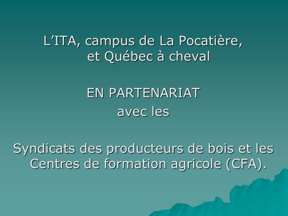 L'ITA, campus de La Pocatière, et Québec à cheval