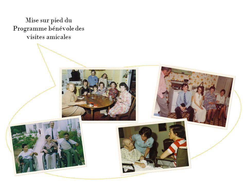 Mise sur pied du Programme bénévole des visites amicales