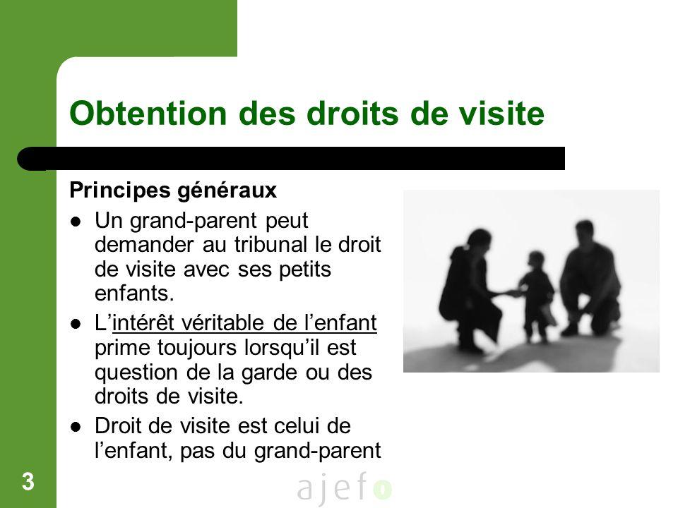 Obtention des droits de visite