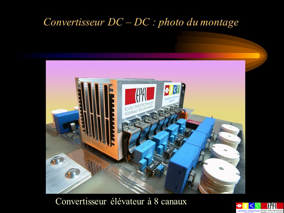 Convertisseur DC – DC : photo du montage