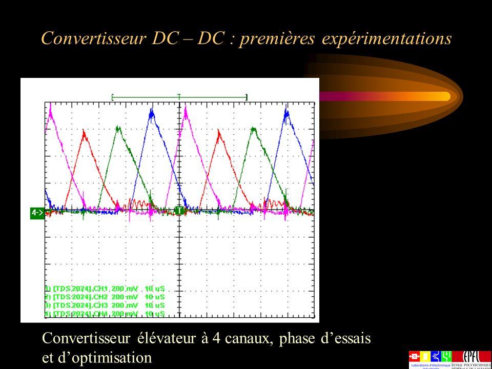 Convertisseur DC – DC : premières expérimentations