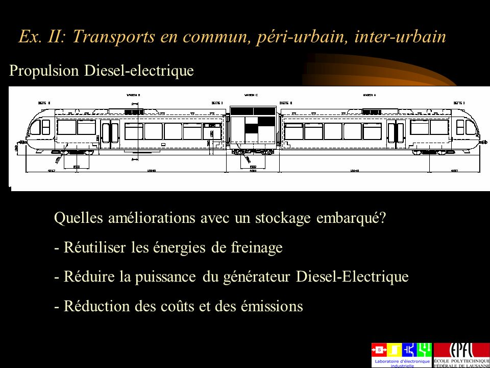 Ex. II: Transports en commun, péri-urbain, inter-urbain