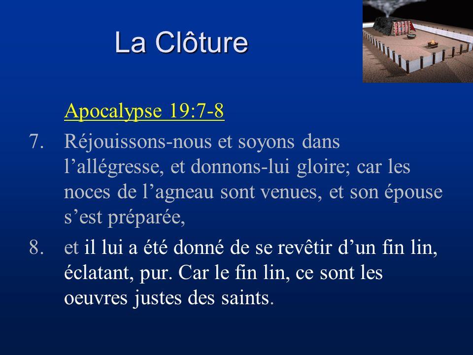 La Clôture Apocalypse 19:7-8