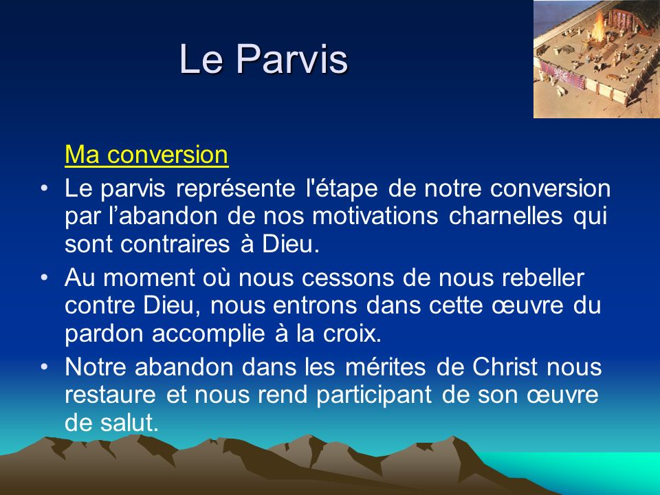 Le Parvis Ma conversion