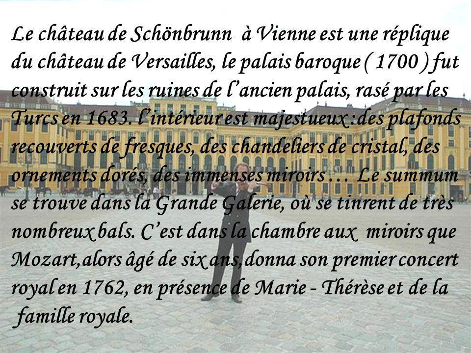 Le château de Schönbrunn à Vienne est une réplique