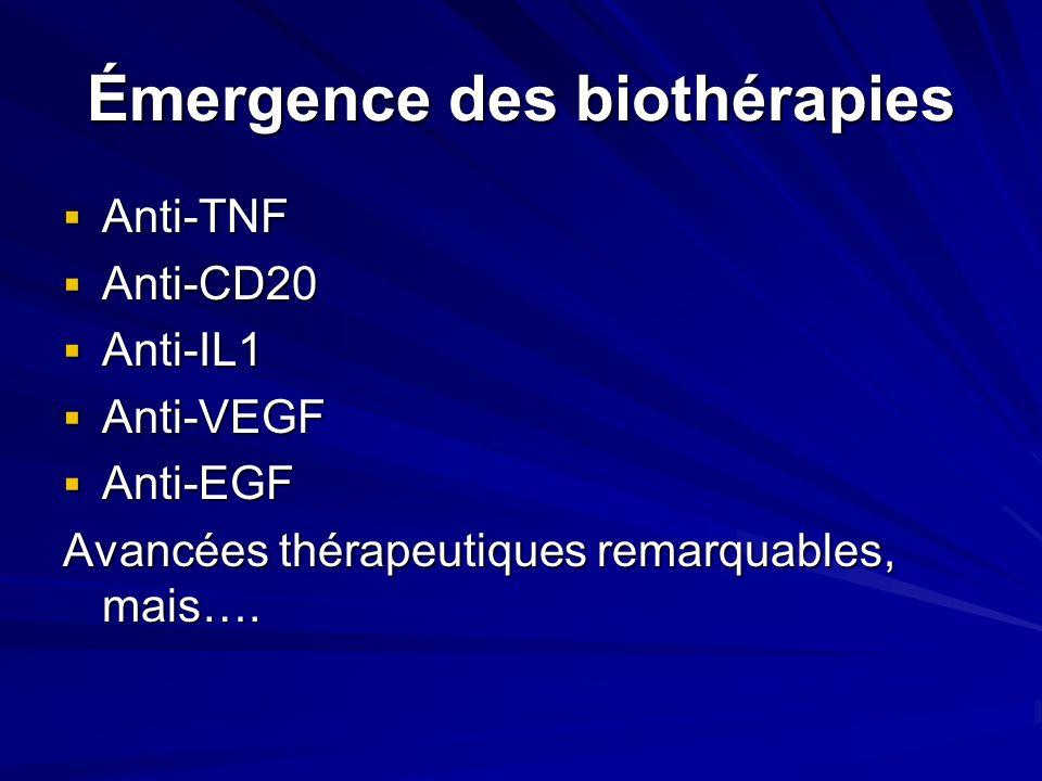 Émergence des biothérapies