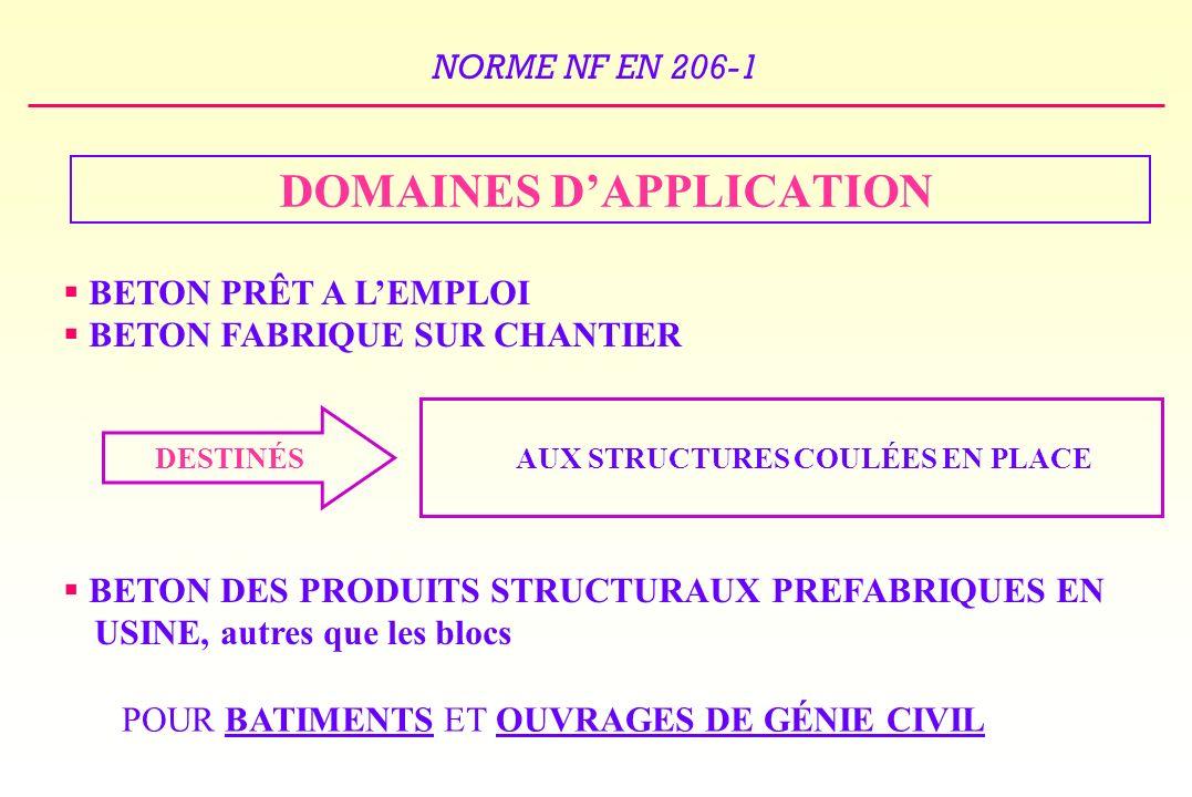 DOMAINES D'APPLICATION AUX STRUCTURES COULÉES EN PLACE
