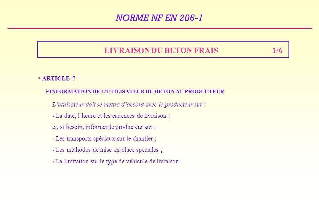 LIVRAISON DU BETON FRAIS 1/6