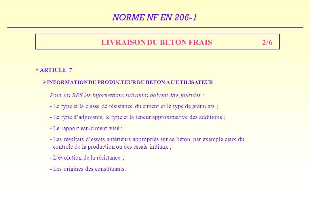 LIVRAISON DU BETON FRAIS 2/6