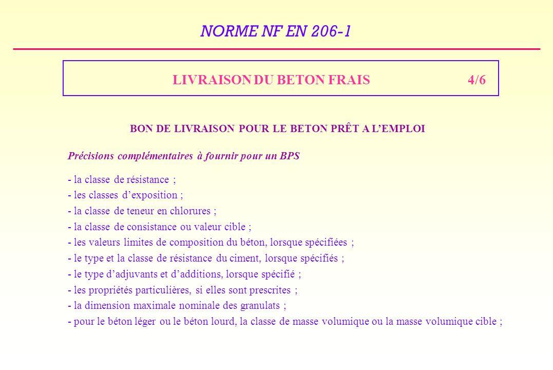 LIVRAISON DU BETON FRAIS