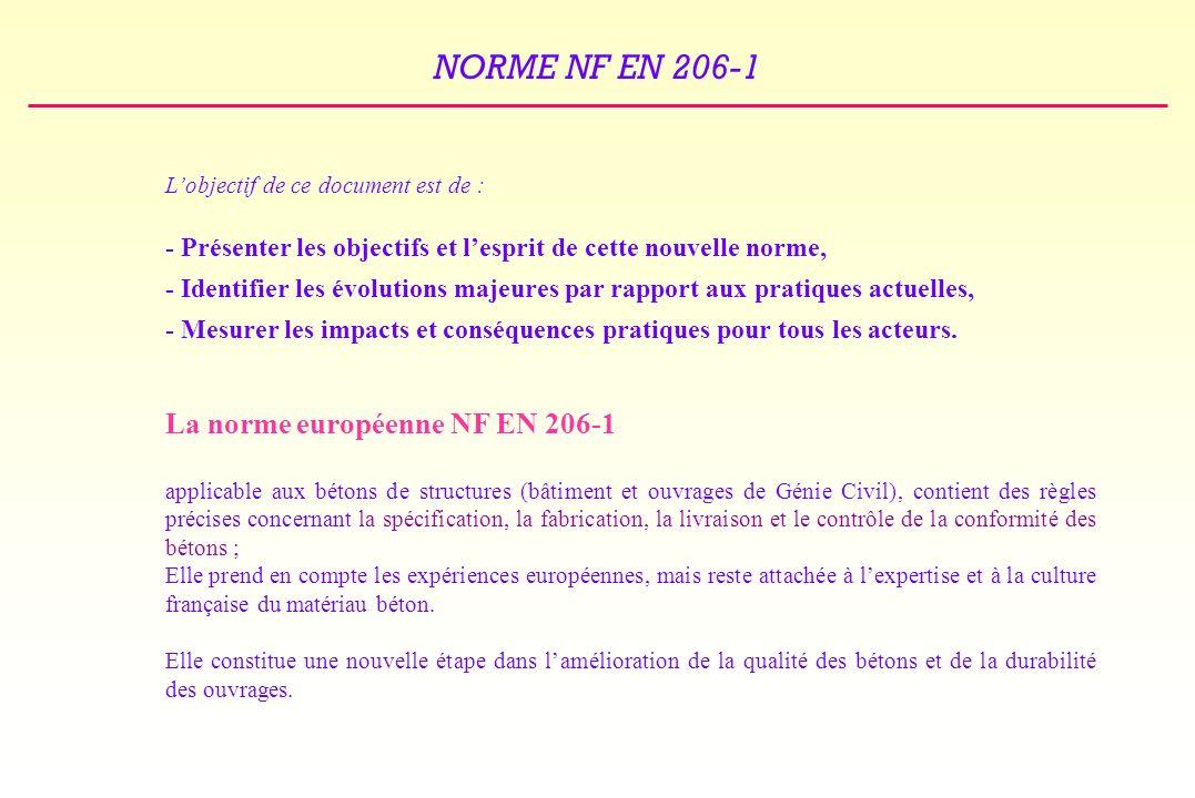 La norme européenne NF EN 206-1