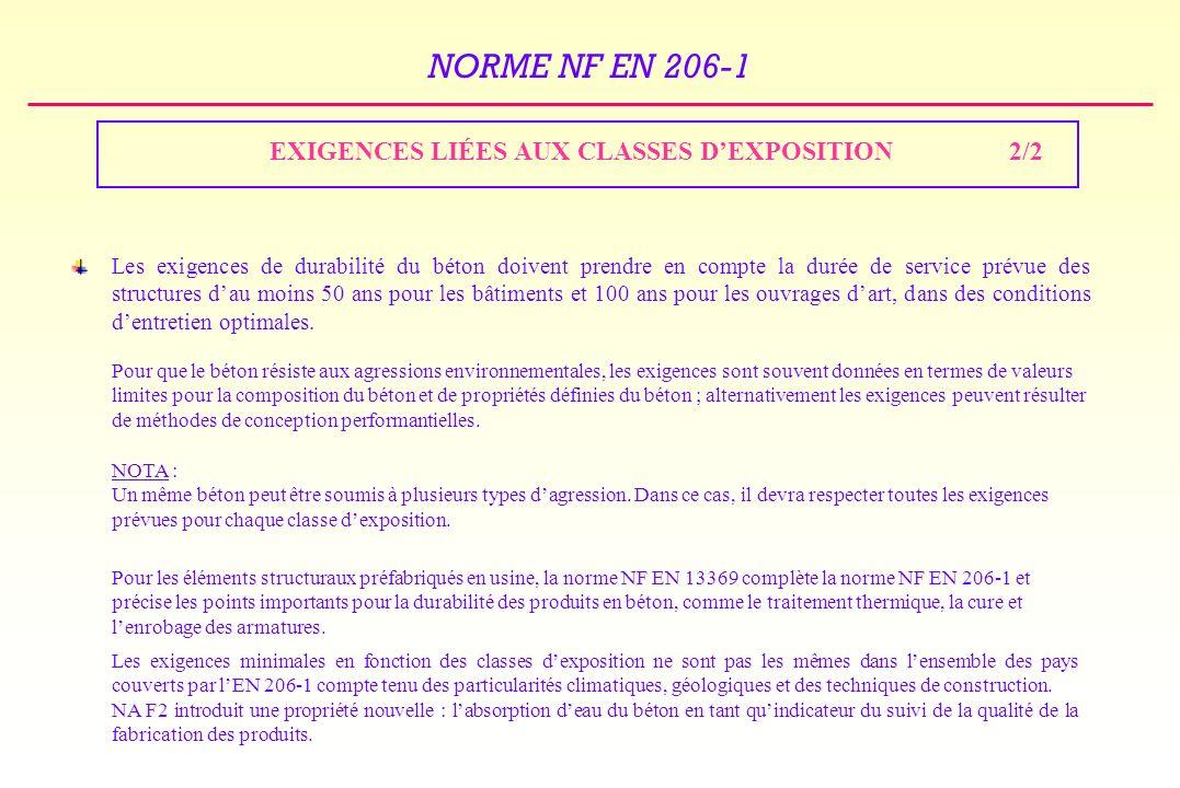 EXIGENCES LIÉES AUX CLASSES D'EXPOSITION 2/2