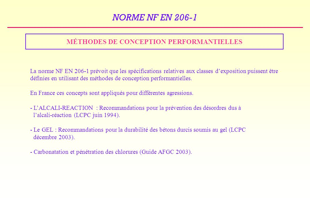 MÉTHODES DE CONCEPTION PERFORMANTIELLES