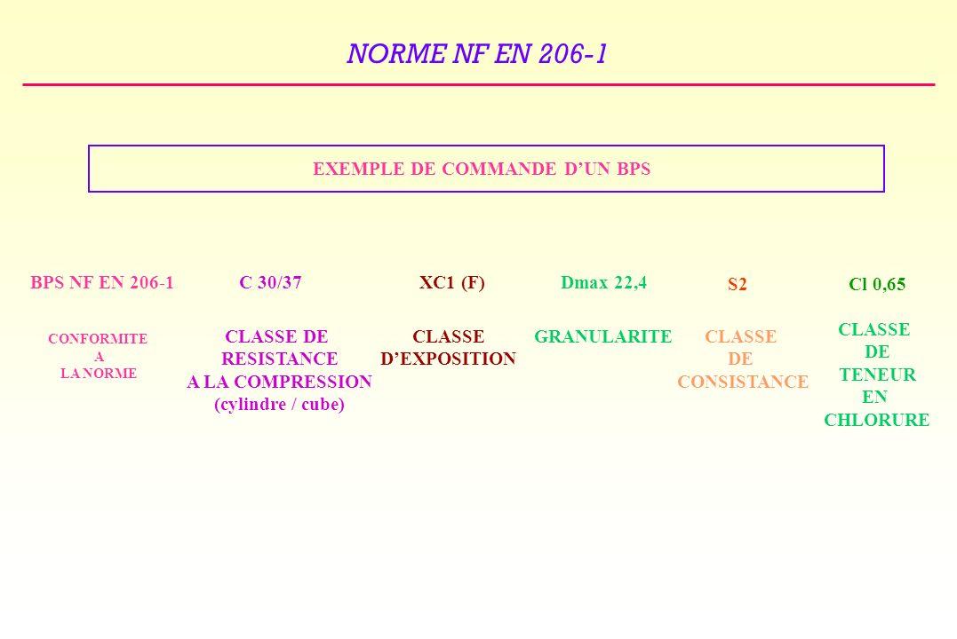 EXEMPLE DE COMMANDE D'UN BPS