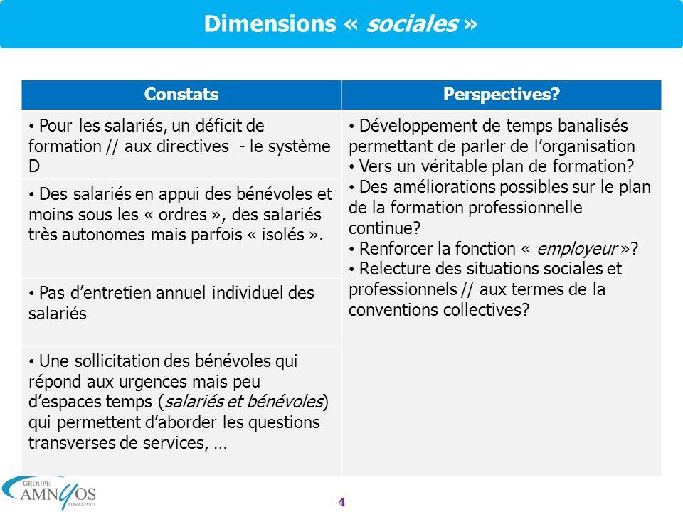 Dimensions « sociales »