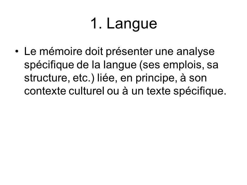 1. Langue