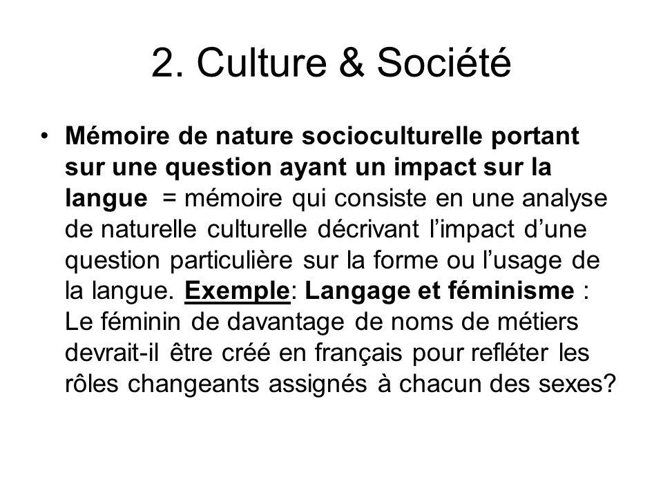 2. Culture & Société