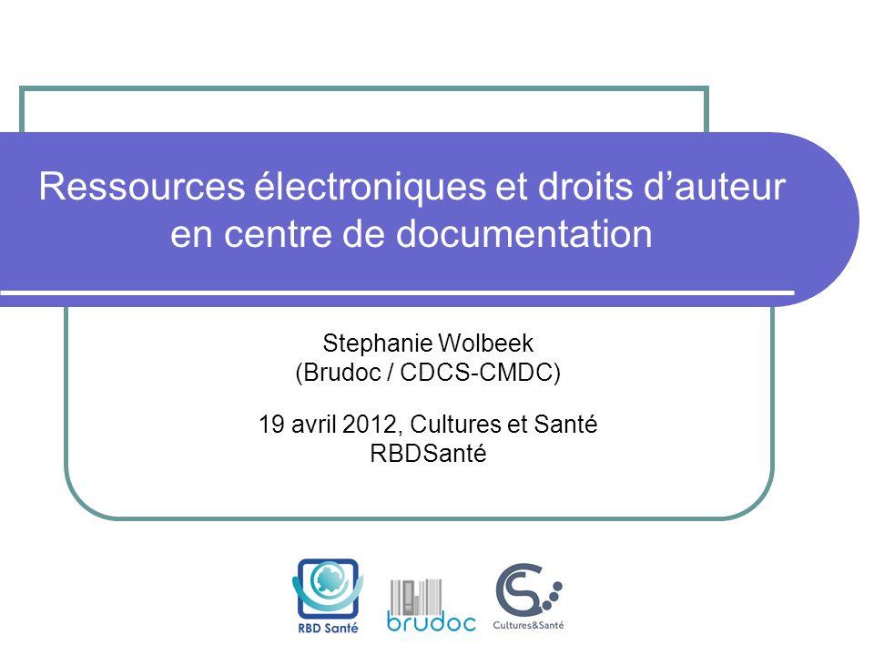 Ressources électroniques et droits d'auteur en centre de documentation