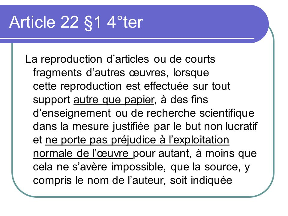 Article 22 §1 4°ter