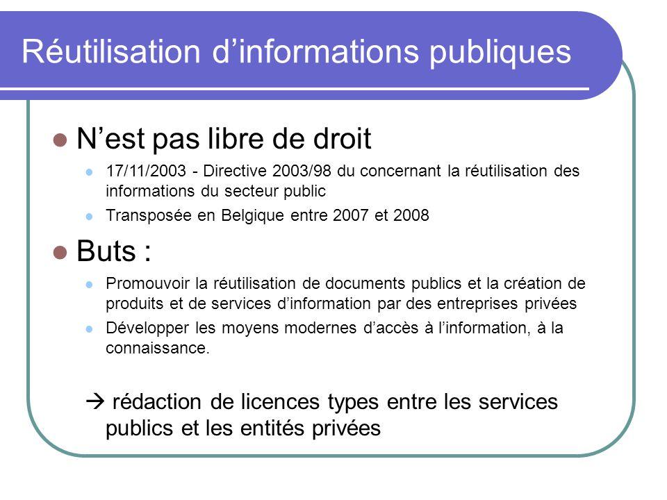 Réutilisation d'informations publiques