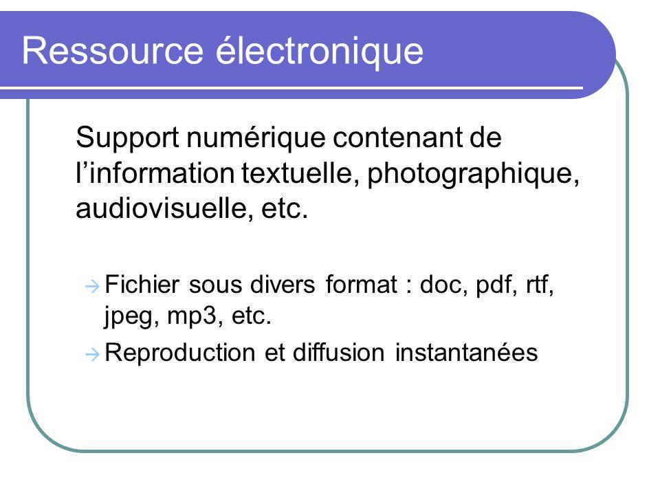 Ressource électronique