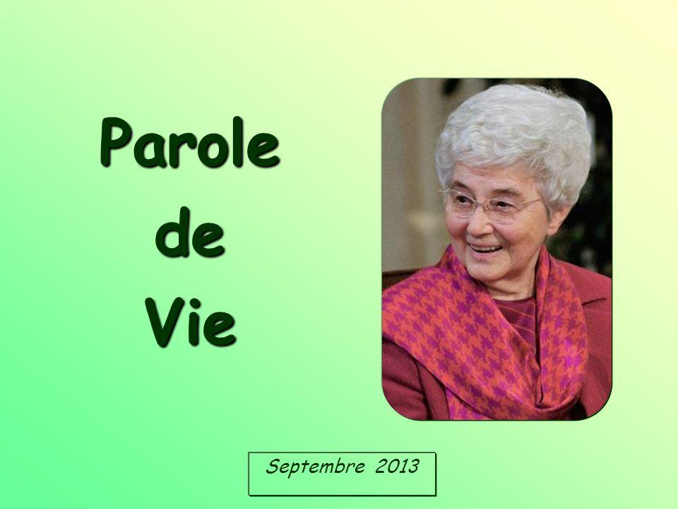 Parole de Vie Septembre 2013