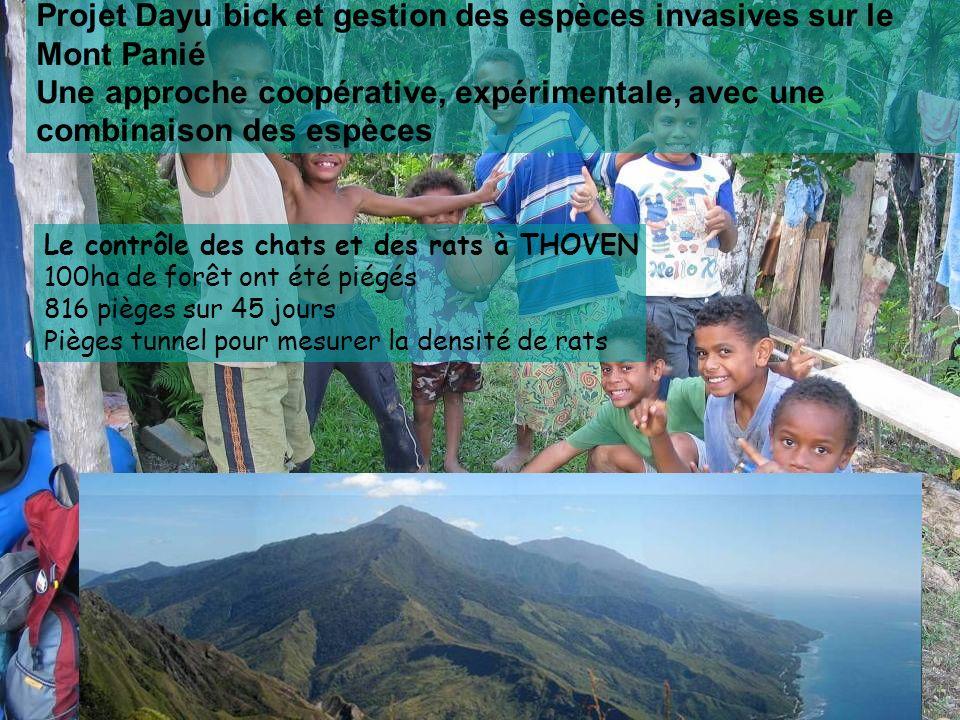 Projet Dayu bick et gestion des espèces invasives sur le Mont Panié