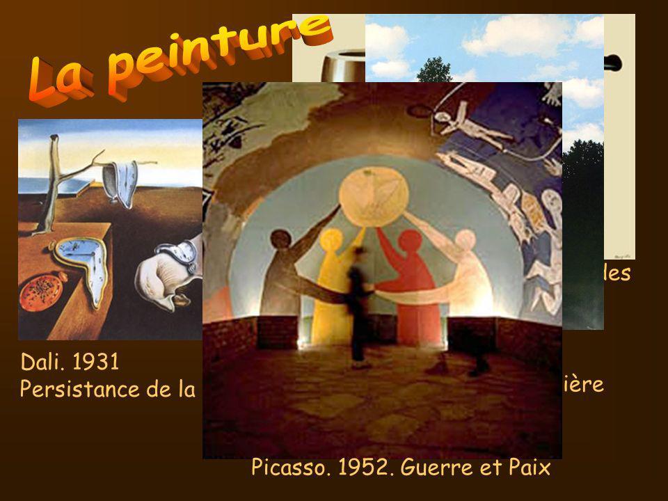 La peinture Magritte. 1929. La trahison des images Magritte. 1950