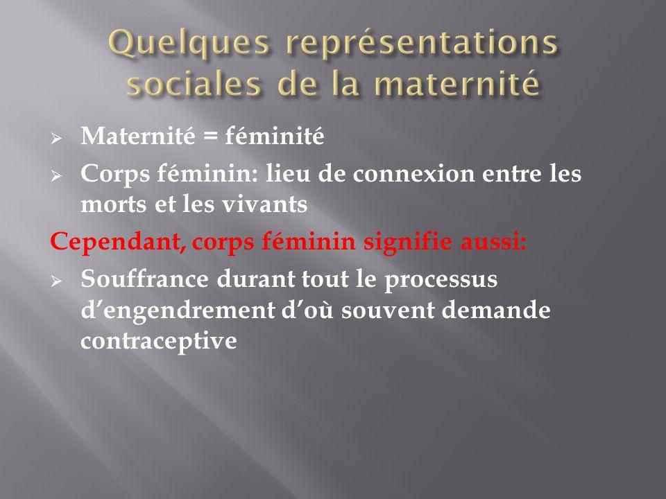 Quelques représentations sociales de la maternité