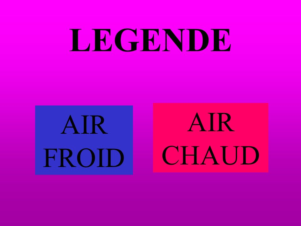 LEGENDE AIR CHAUD AIR FROID