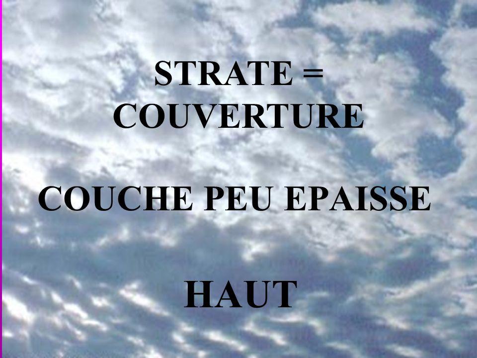 STRATE = COUVERTURE COUCHE PEU EPAISSE HAUT
