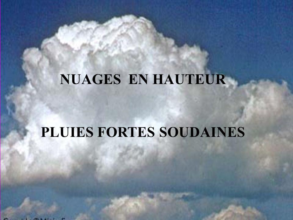 PLUIES FORTES SOUDAINES