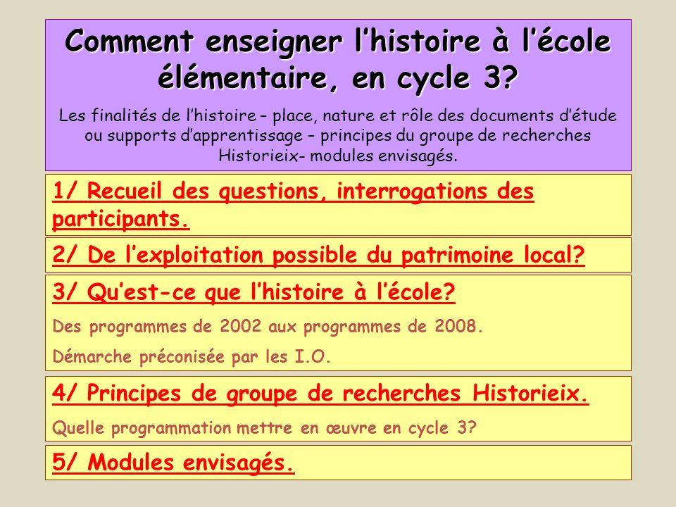 Comment enseigner l'histoire à l'école élémentaire, en cycle 3