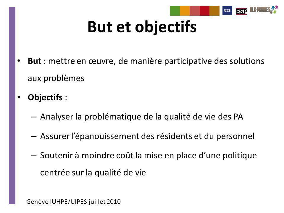 But et objectifs But : mettre en œuvre, de manière participative des solutions aux problèmes. Objectifs :
