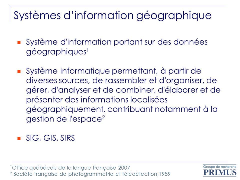Systèmes d'information géographique