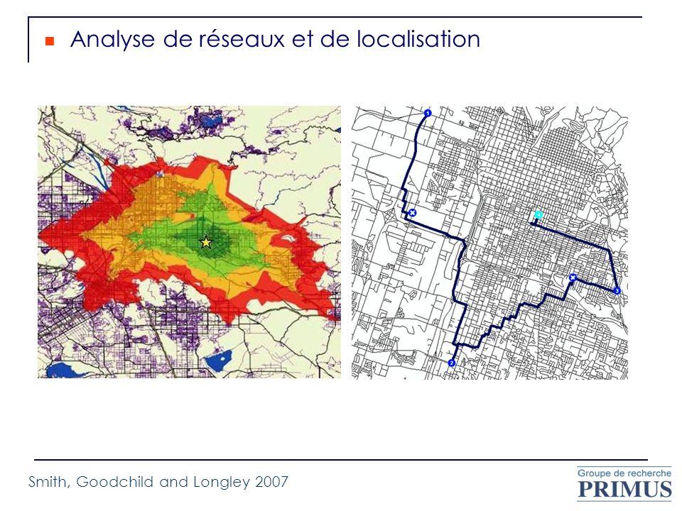 Analyse de réseaux et de localisation