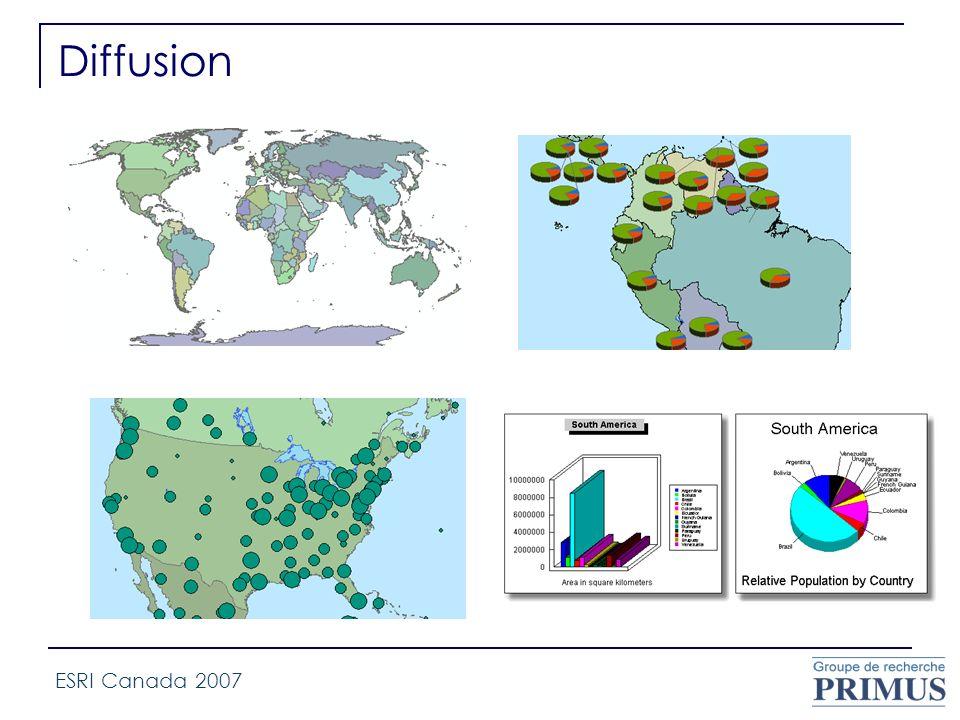 Diffusion ESRI Canada 2007