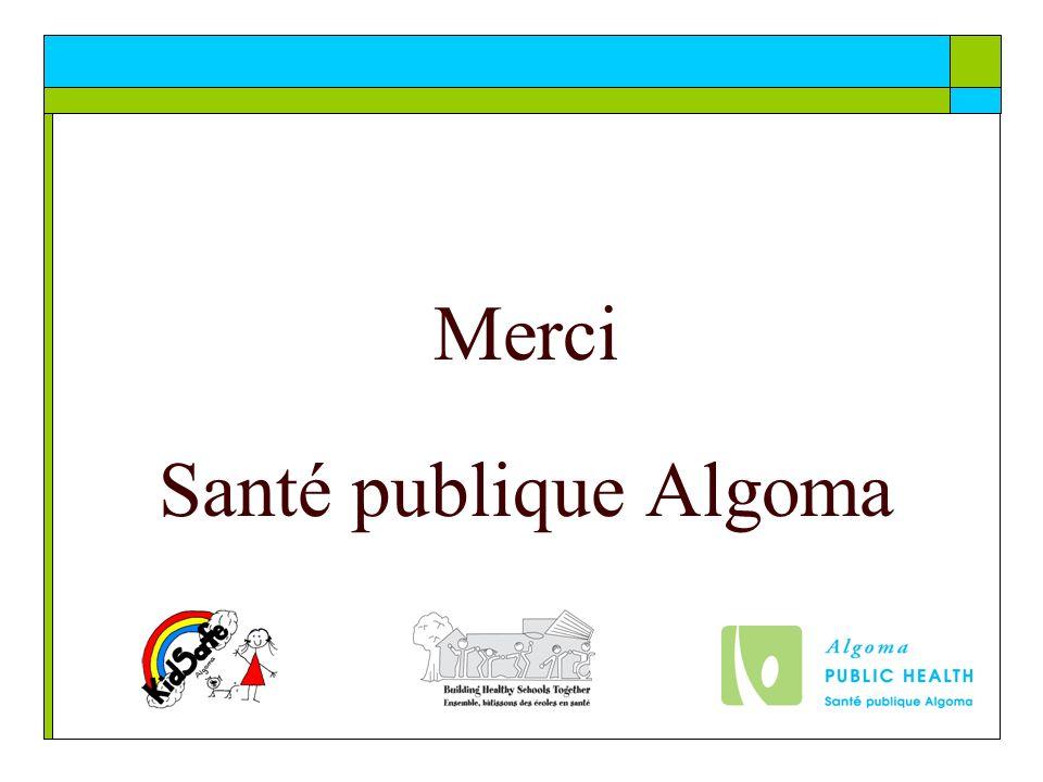 Merci Santé publique Algoma