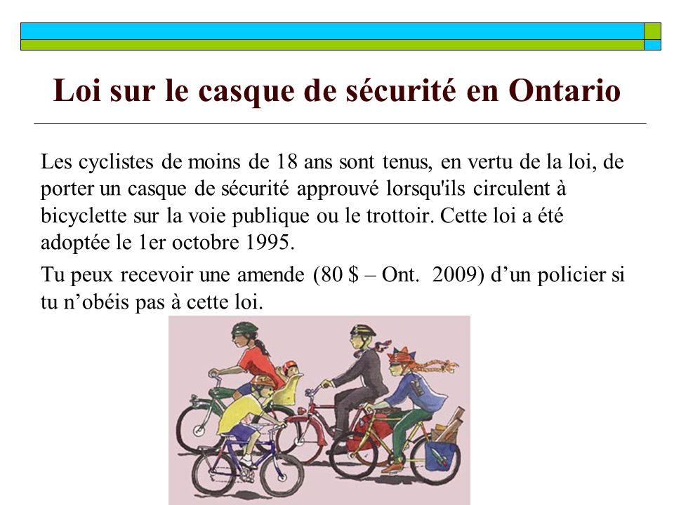 Loi sur le casque de sécurité en Ontario