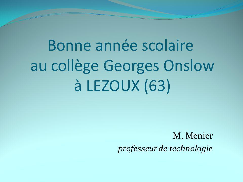 Bonne année scolaire au collège Georges Onslow à LEZOUX (63)