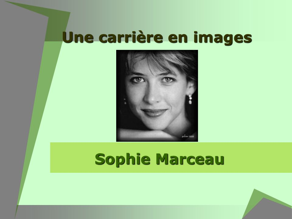 Une carrière en images Sophie Marceau