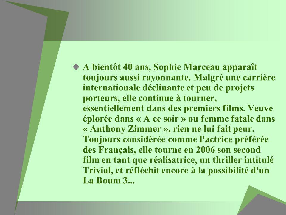 A bientôt 40 ans, Sophie Marceau apparaît toujours aussi rayonnante