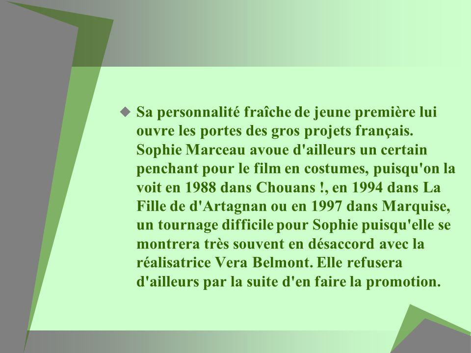 Sa personnalité fraîche de jeune première lui ouvre les portes des gros projets français.