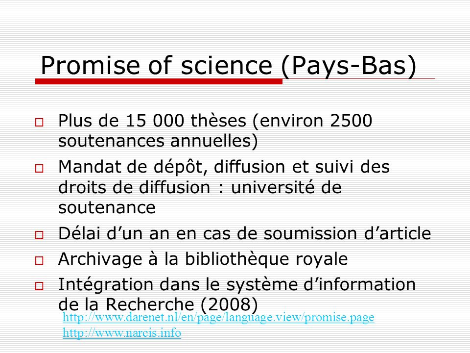 Promise of science (Pays-Bas)‏