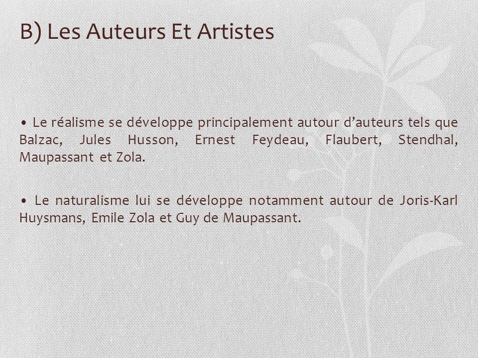 B) Les Auteurs Et Artistes