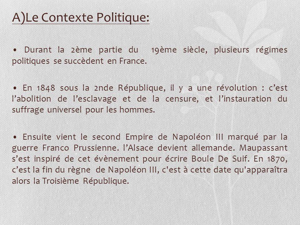 A)Le Contexte Politique: