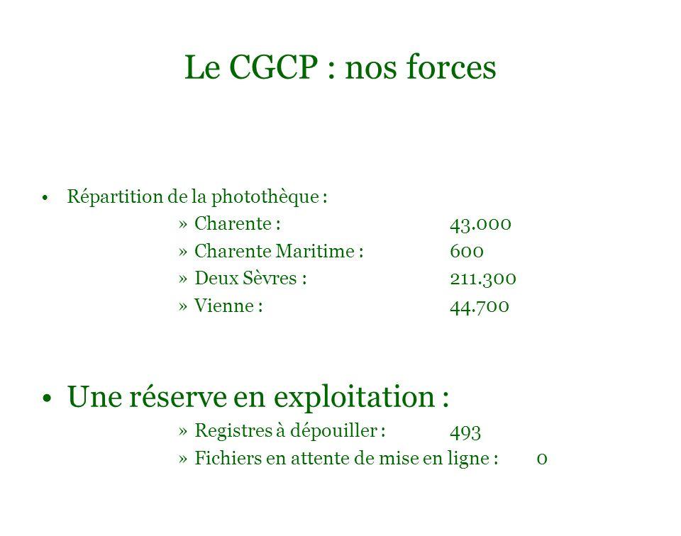 Le CGCP : nos forces Répartition de la photothèque : Charente : 43.000