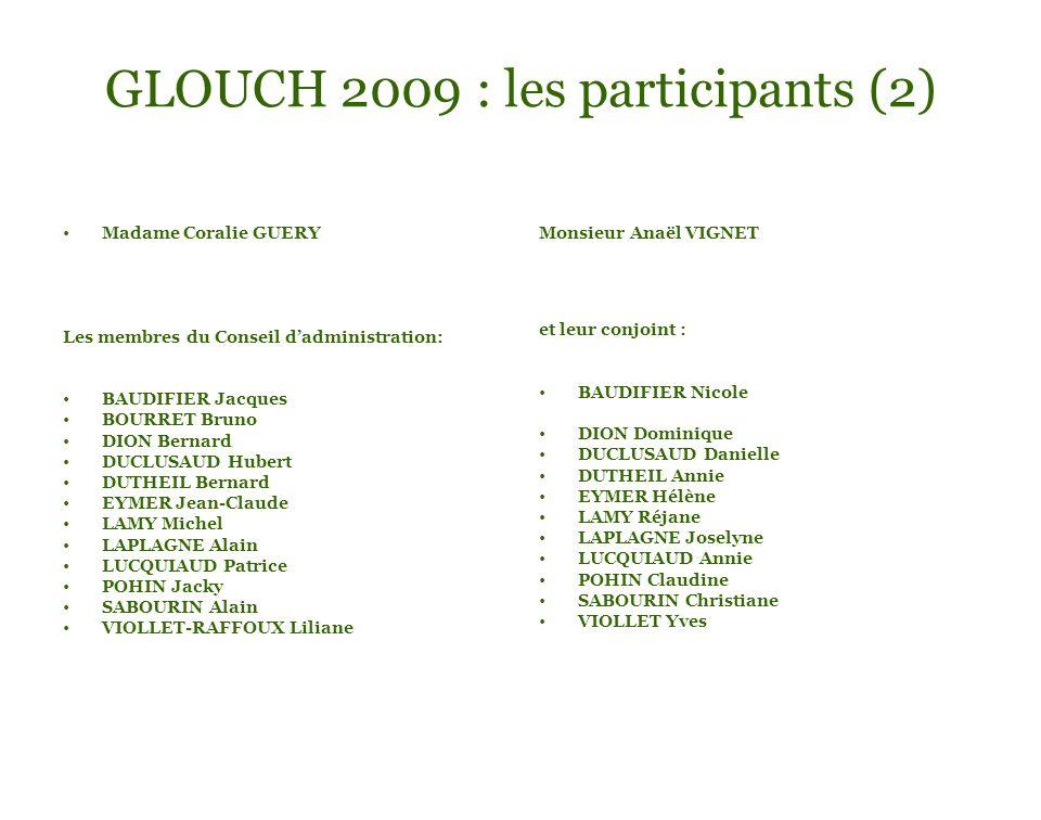 GLOUCH 2009 : les participants (2)