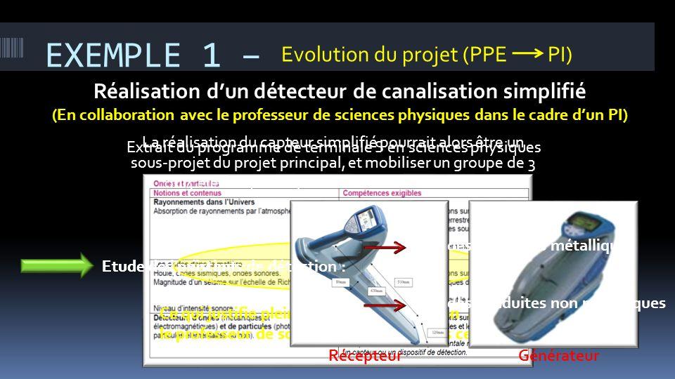 Réalisation d'un détecteur de canalisation simplifié
