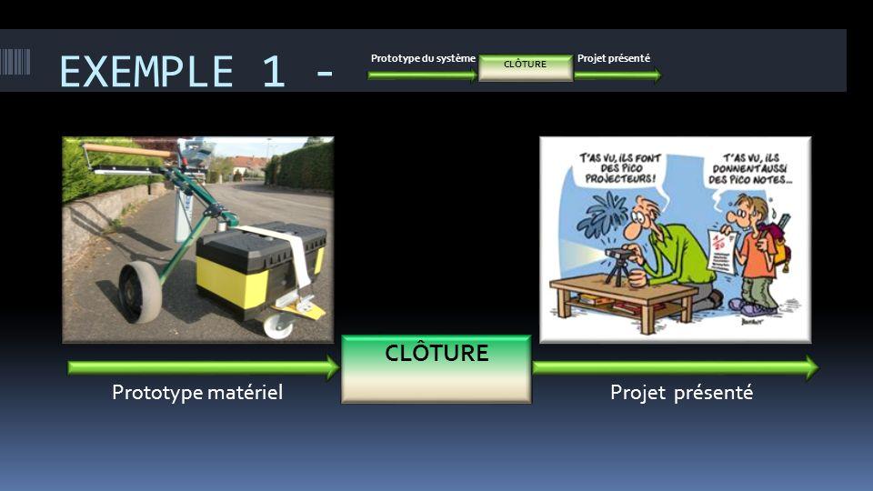 EXEMPLE 1 - CLÔTURE Prototype matériel Projet présenté